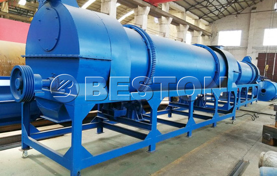 Beston palm shell charcoal making plant installed in Uzbekistan