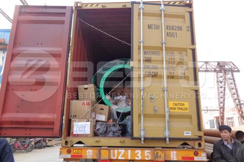 Shipment of Beston Coconut Charcoal Making Machine